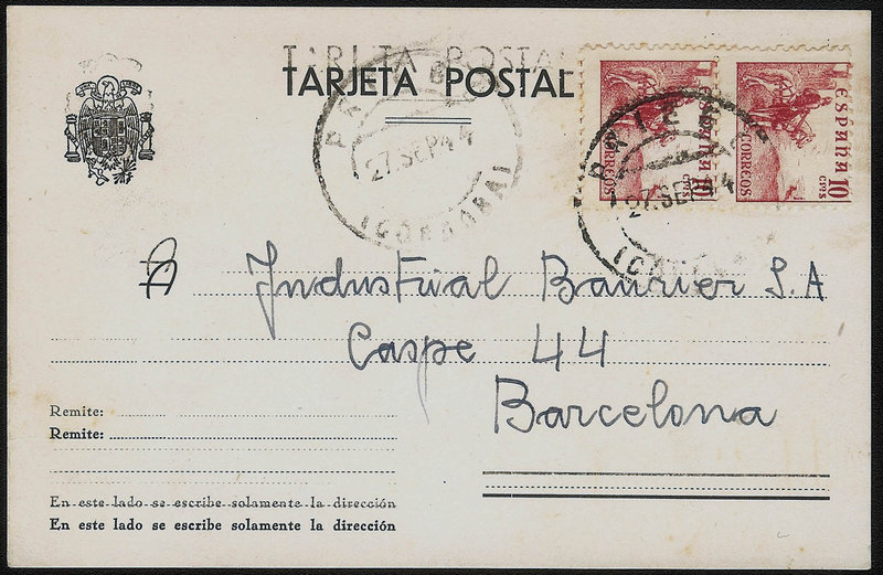 EDIFIL. ENTERO POSTAL CON SELLO Nº 915 (2). (10)