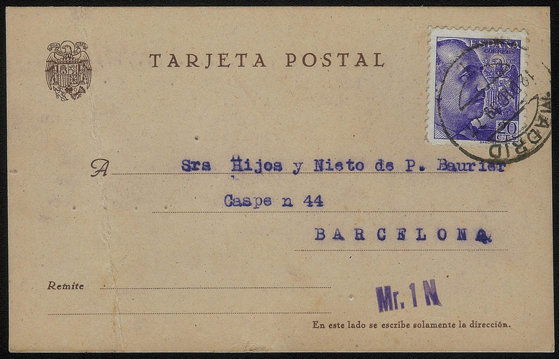 EDIFIL. ENTERO POSTAL CON SELLO Nº 867. (14)