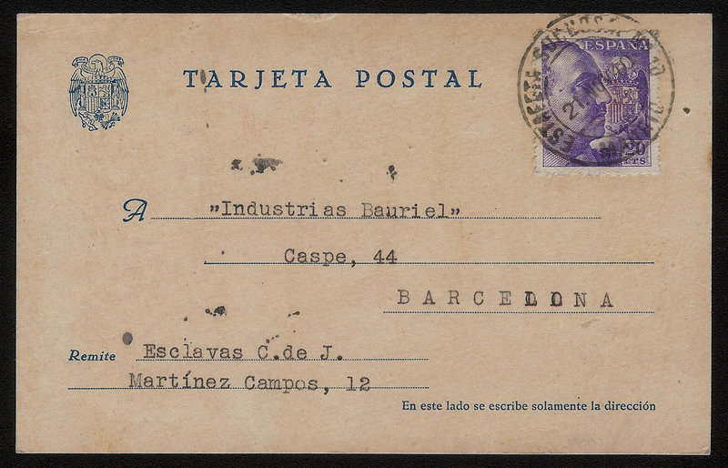 EDIFIL. ENTERO POSTAL CON SELLO Nº 922. (16)