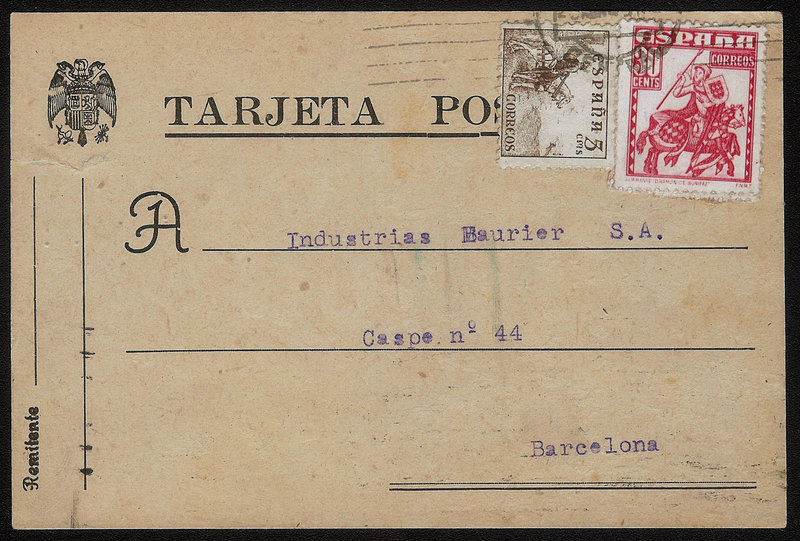 EDIFIL. ENTERO POSTAL CON SELLO Nº 1034-1044. (17)
