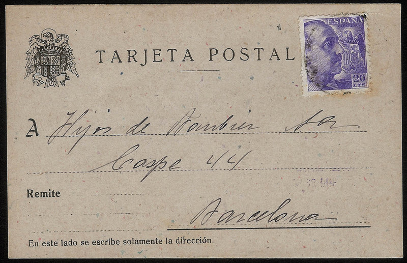 EDIFIL. ENTERO POSTAL CON SELLO Nº 922. (20)