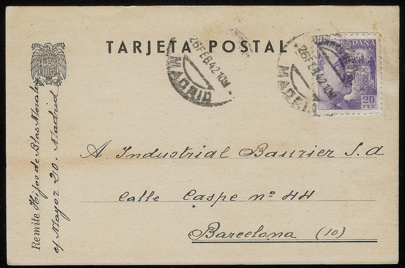 EDIFIL. ENTERO POSTAL CON SELLO Nº 922. (21)