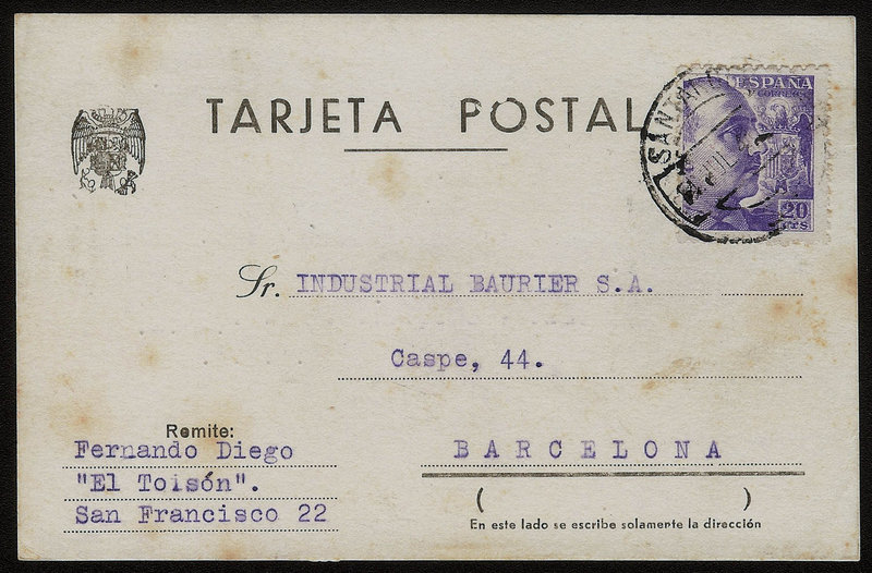 EDIFIL. ENTERO POSTAL CON SELLO Nº 922. (25)
