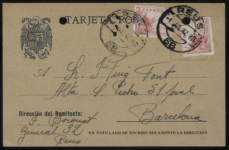 EDIFIL. ENTERO POSTAL CON SELLO Nº 917 (2). (29)