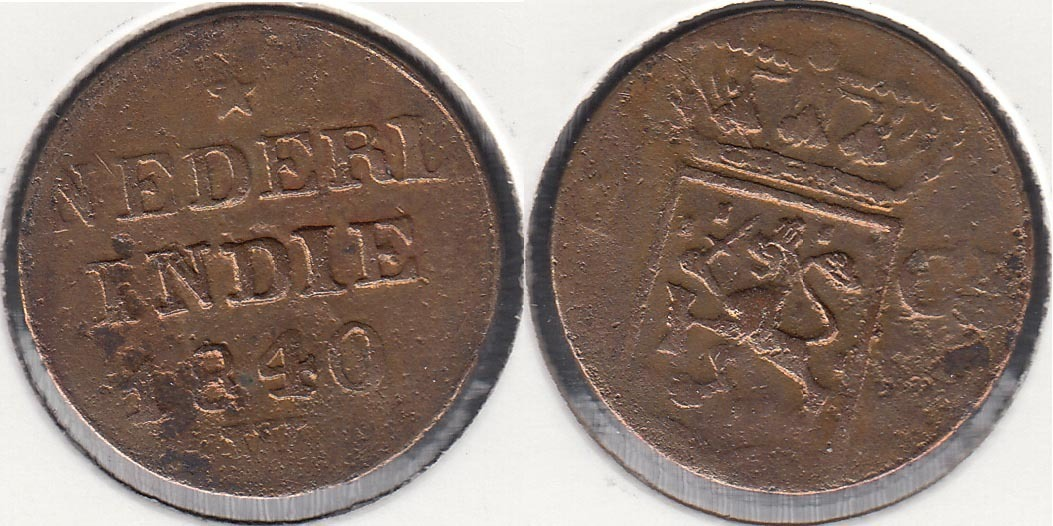 INDIA HOLANDESA - NETHERLAND EAST INDIES. 1 CENTIMO (CENT) DE 1840 W.