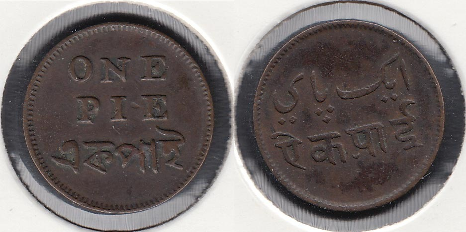 INDIA BRITANICA - BRITISH INDIA. CALCUTA. 1 PIE DE 1831.