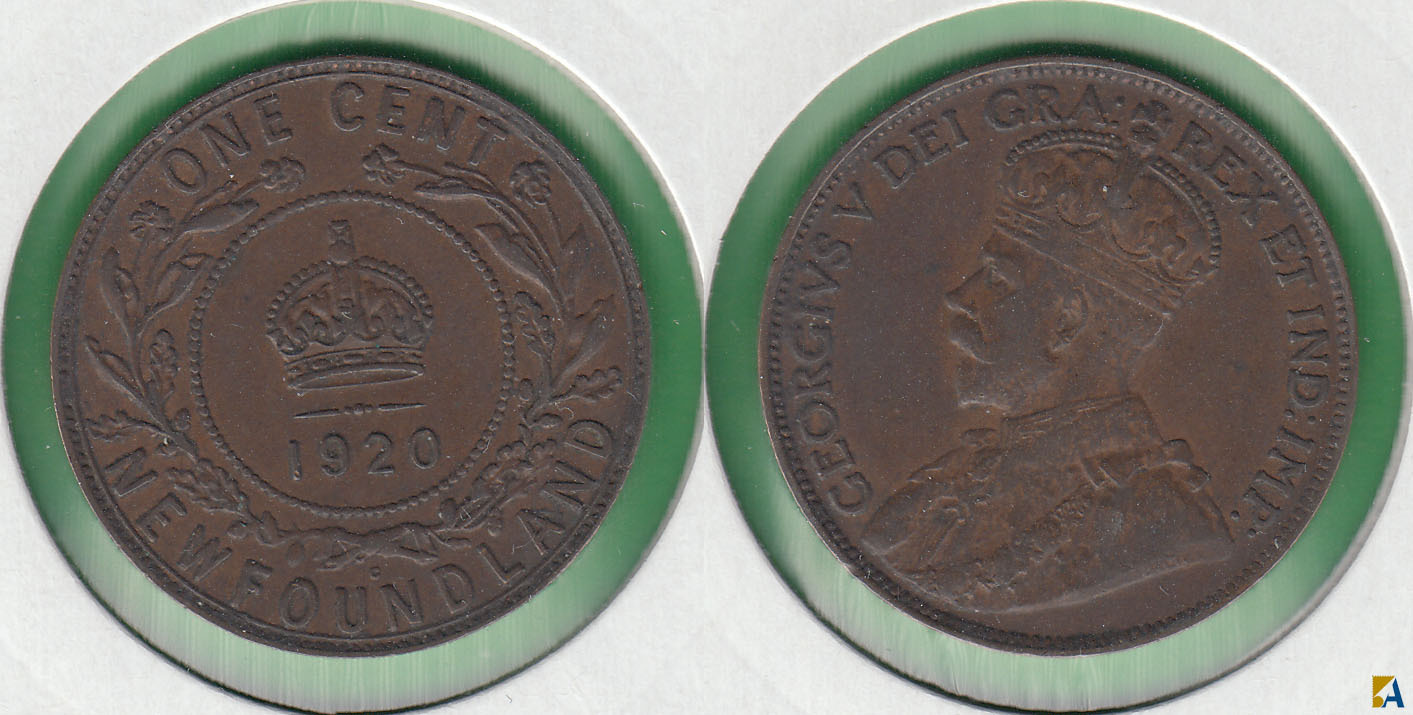 CANADA. NEW FOUNDLAND. 1 CENTAVO (CENT) DE 1920 C.
