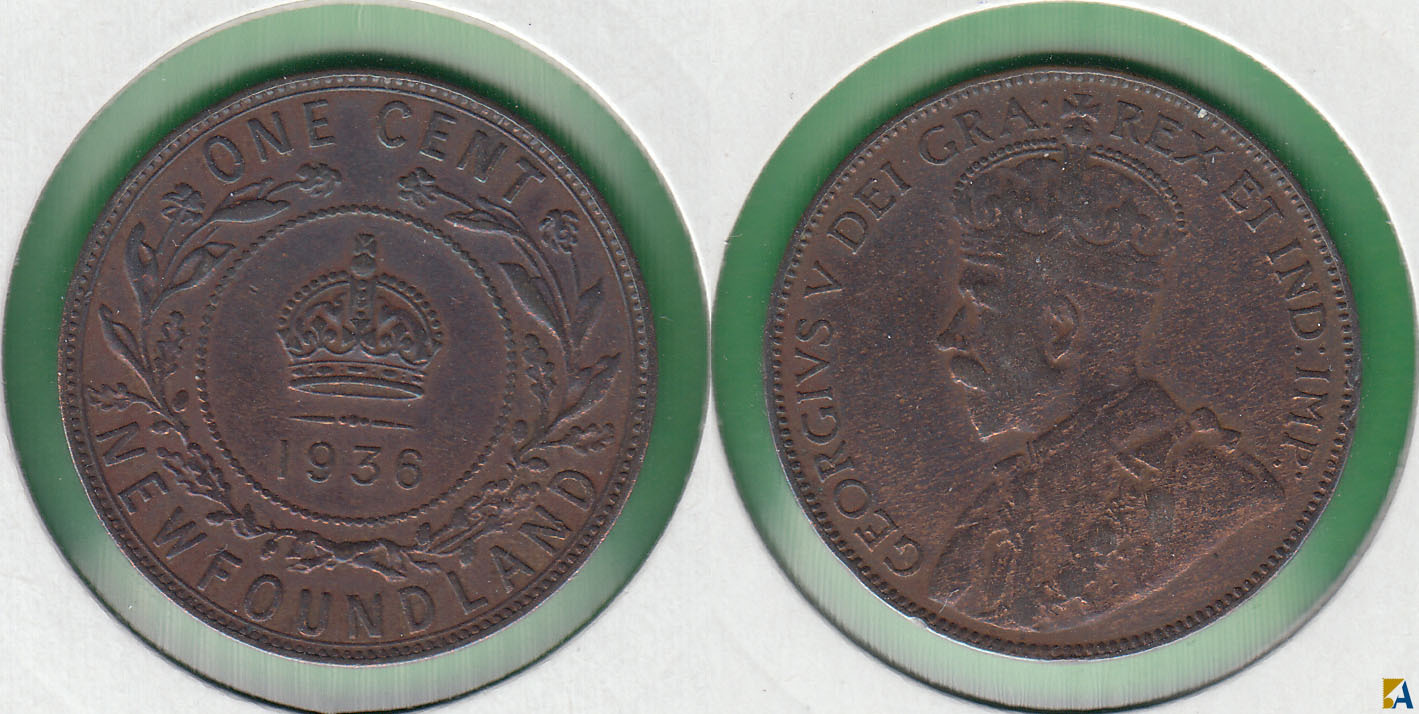 CANADA. NEW FOUNDLAND. 1 CENTAVO (CENT) DE 1936.
