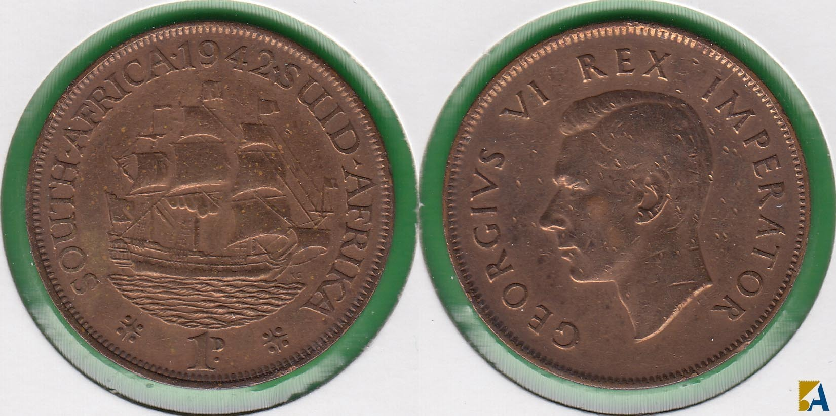 SUDAFRICA - SOUTH AFRICA. 1 PENIQUE (PENNY) DE 1942.