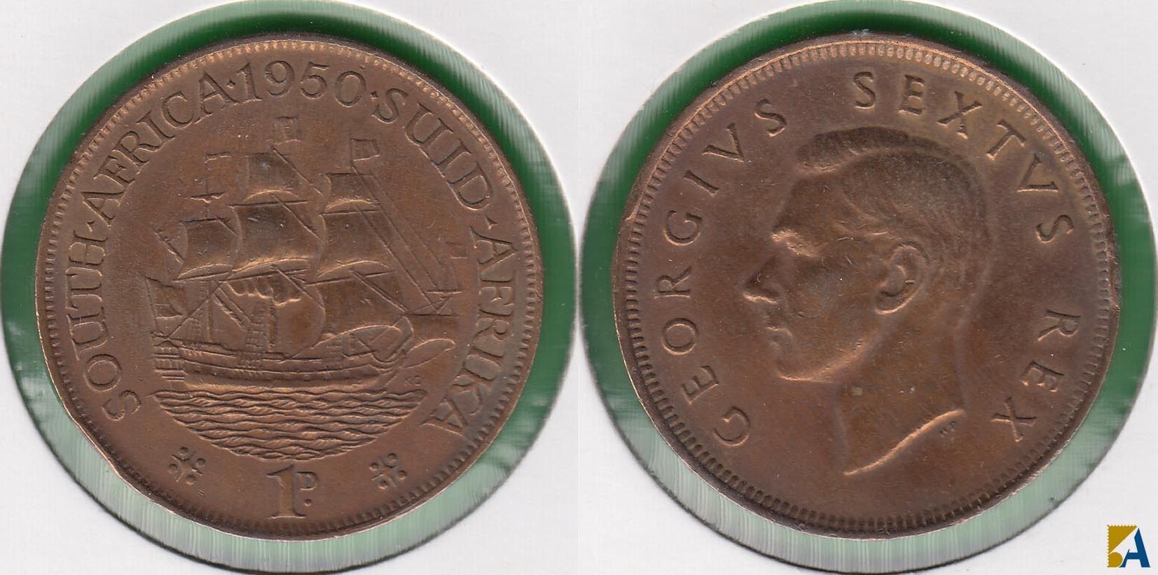 SUDAFRICA - SOUTH AFRICA. 1 PENIQUE (PENNY) DE 1950.