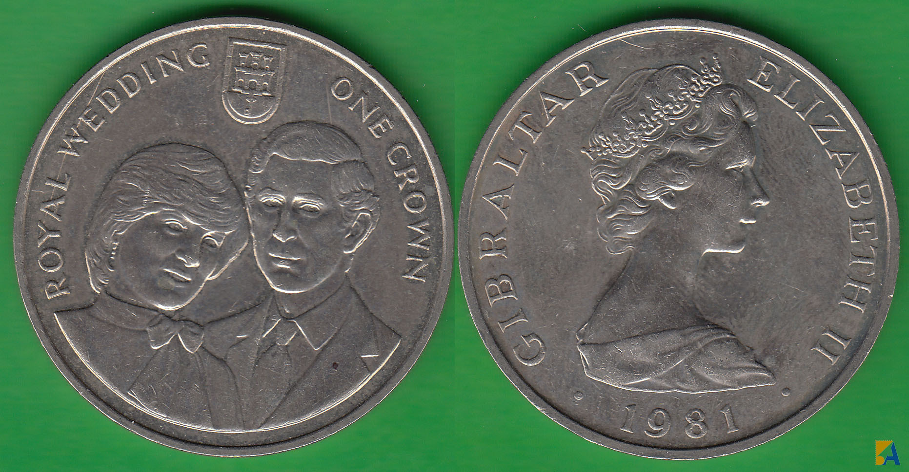 GIBRALTAR. 1 CORONA (CROWN) DE 1981.