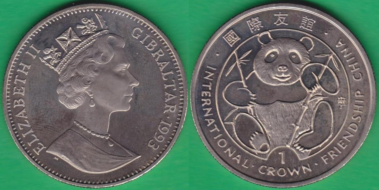 GIBRALTAR. 1 CORONA (CROWN) DE 1993. (21)