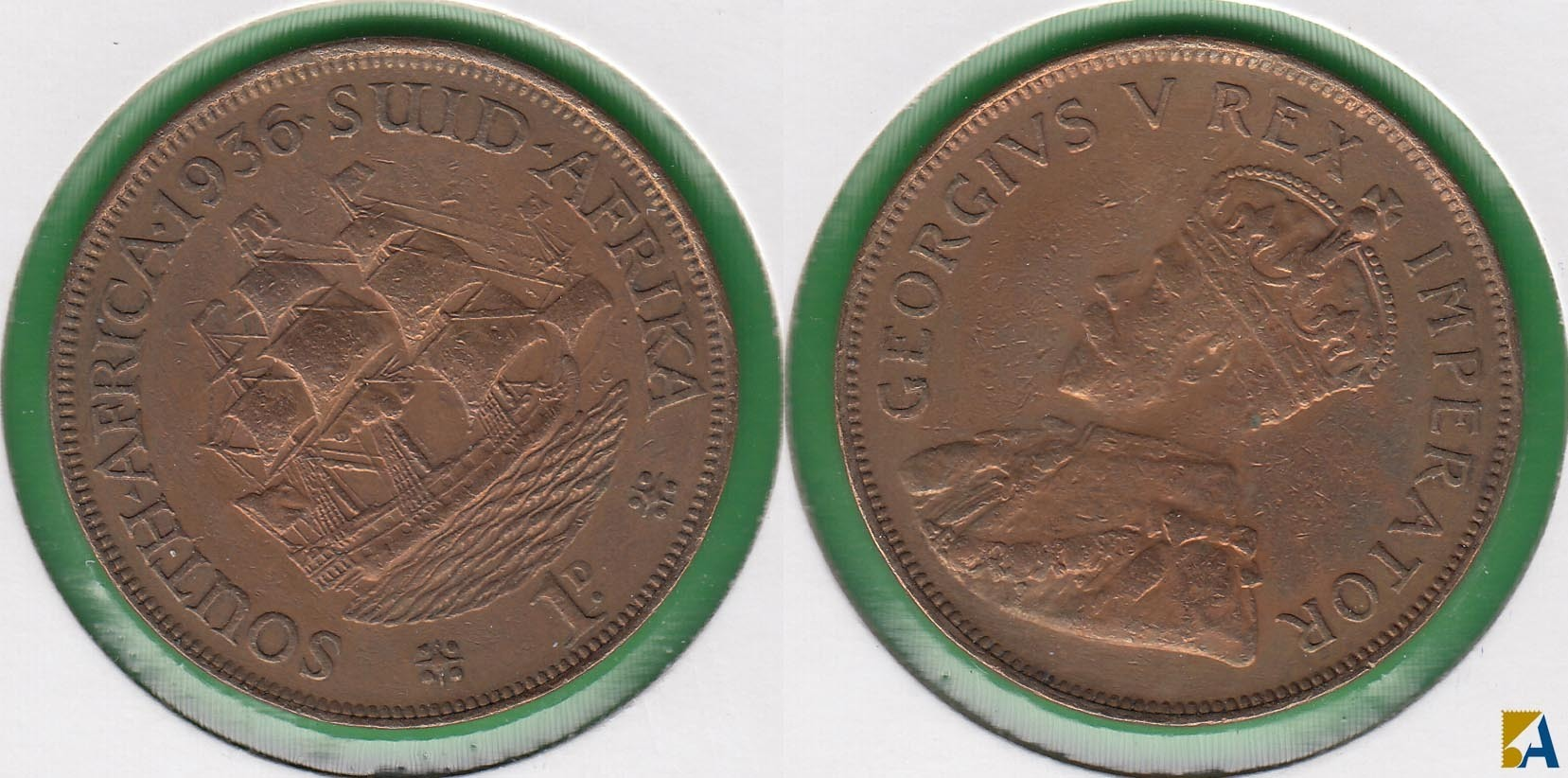 SUDAFRICA - SOUTH AFRICA. 1 PENIQUE (PENNY) DE 1936. (2)