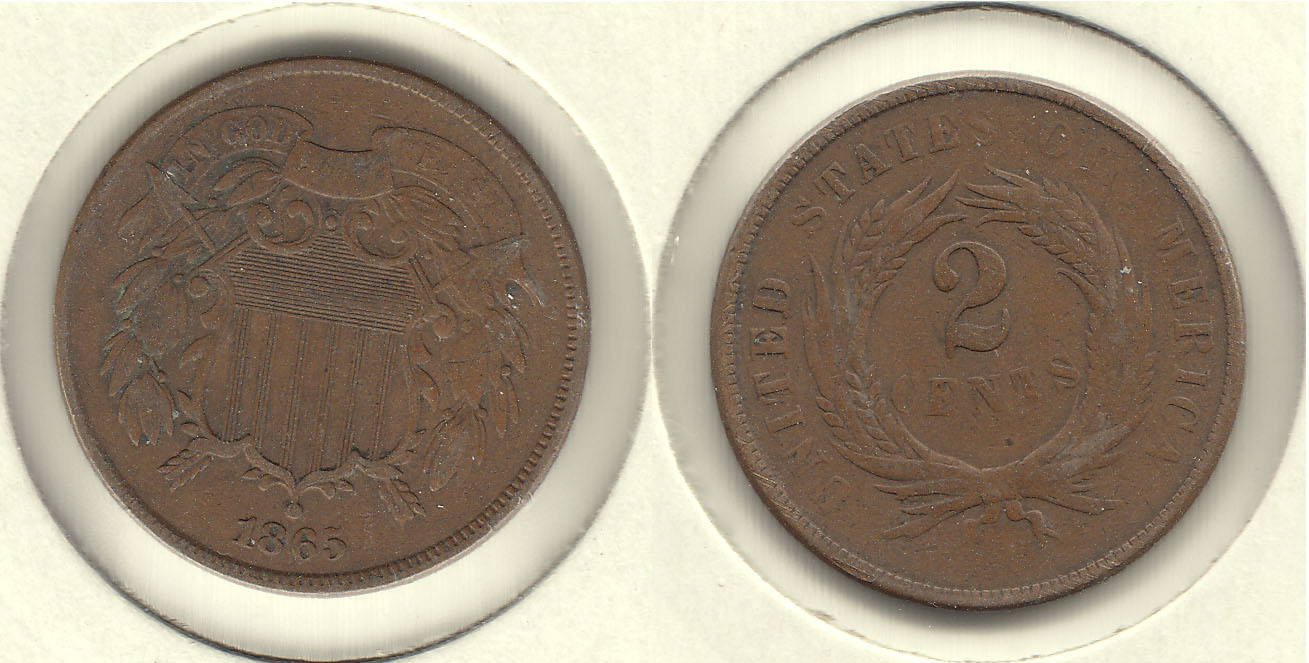 ESTADOS UNIDOS - UNITED STATES. 2 CENTIMOS (CENTS) DE 1865.