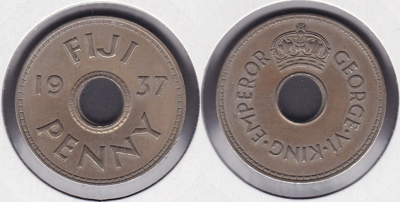 ISLAS FIJI - REPUBLIC OF FIJI. 1 PENIQUE (PENNY) DE 1937.