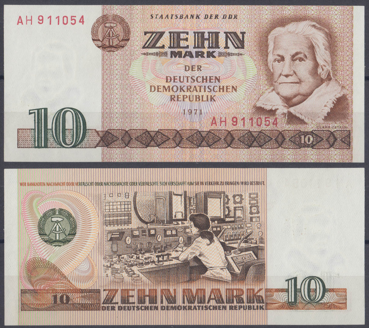 ALEMANIA - GERMANY. 10 MARCOS (MARK) DE 1971. SIN CIRCULAR.