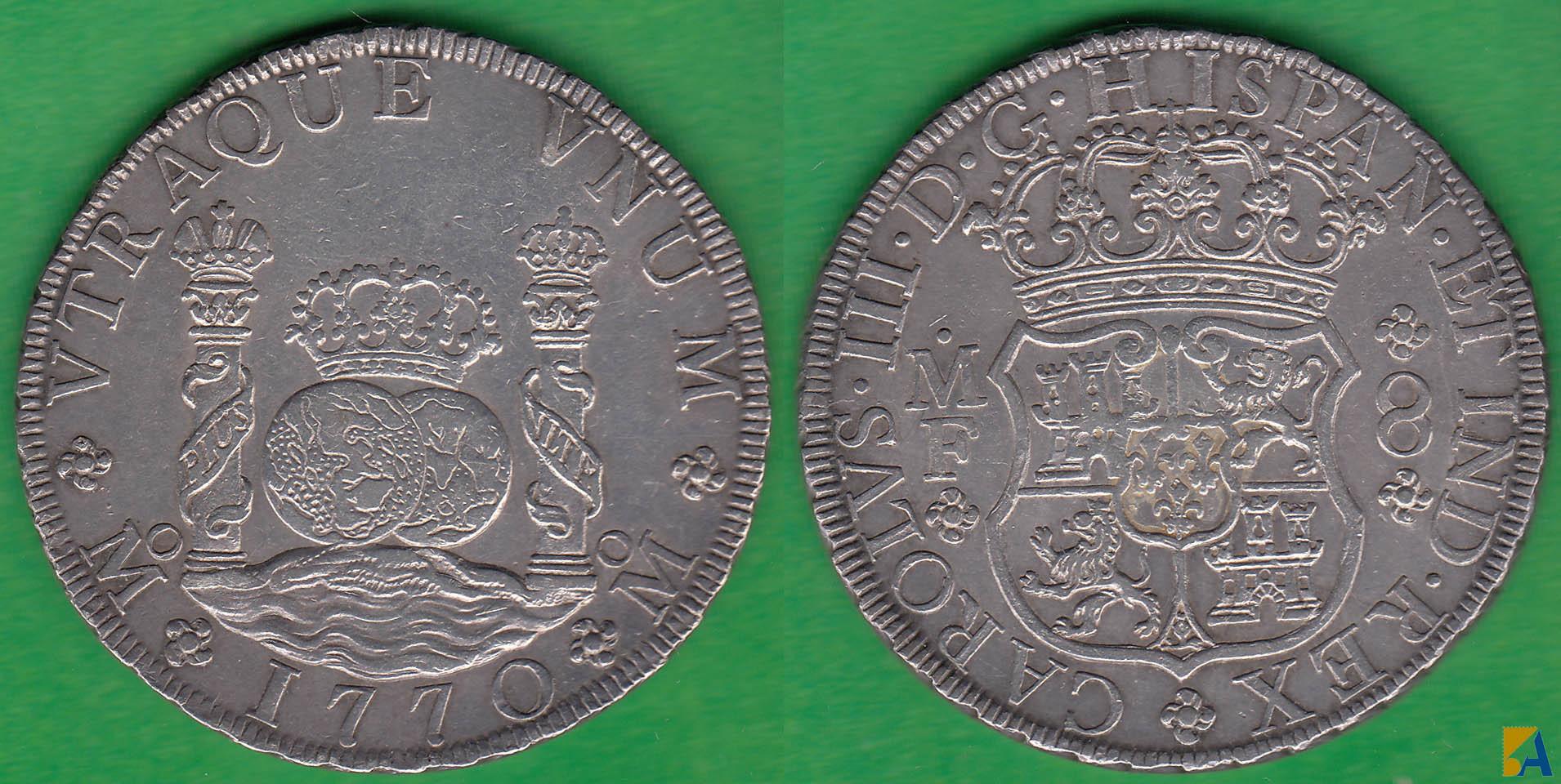 Dudas 8 reales columnario. 8_reales_1770_mexico