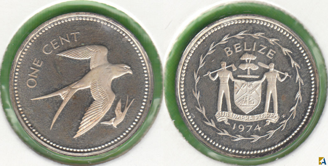 BELIZE. 1 CENTIMO (CENT) DE 1974. PLATA 0.925.