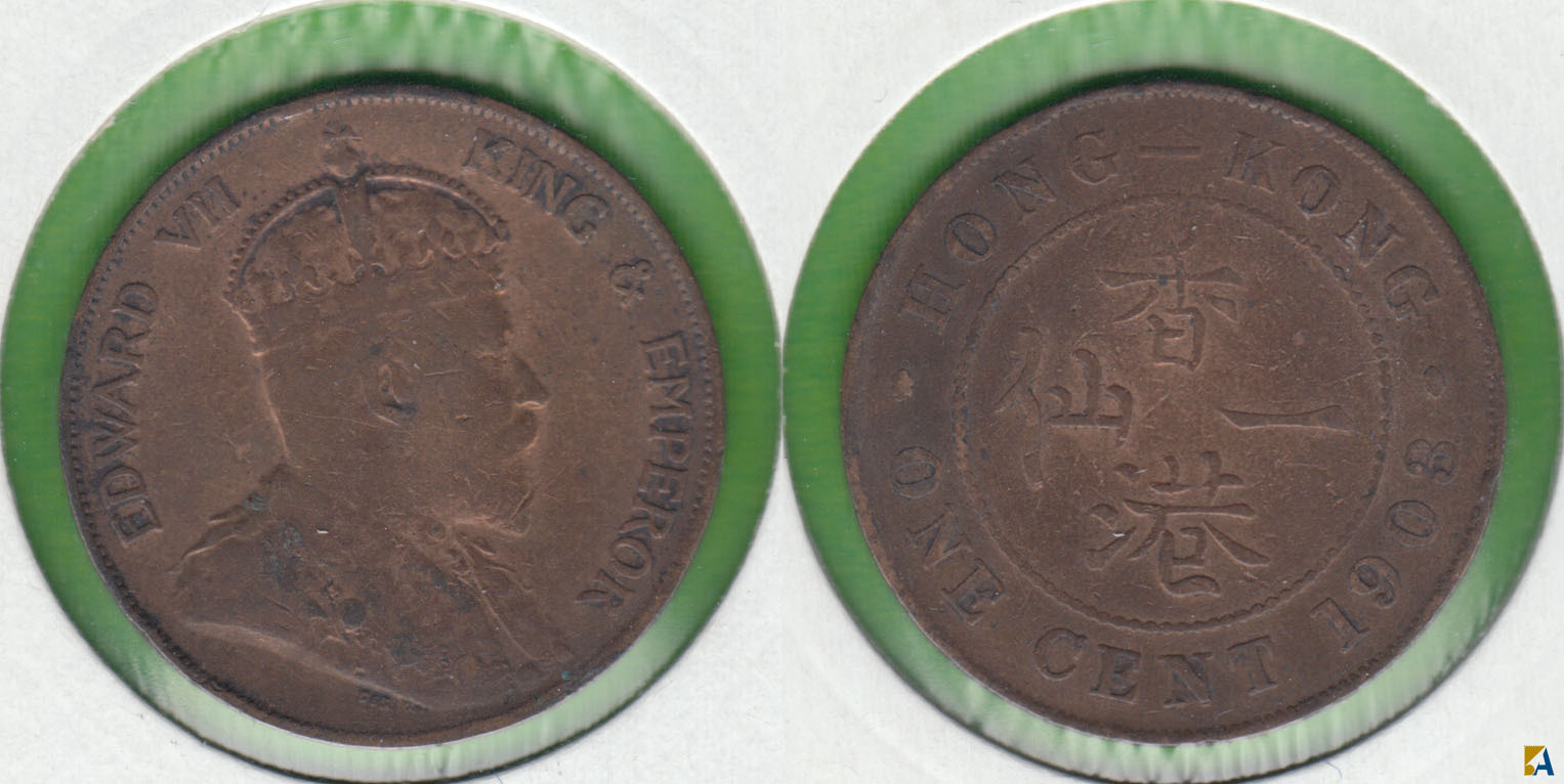 HONG KONG. 1 CENTIMO (CENT) DE 1903.